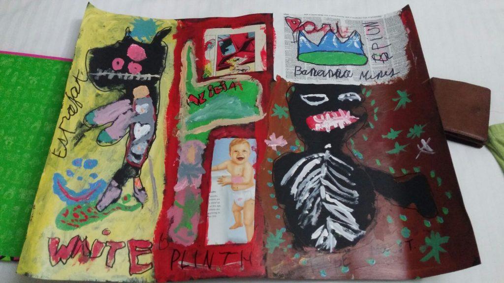 Dibujos realizados por una niña en inmersión en Reino Unido
