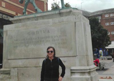 Estatua de lady Godiva en Coventry